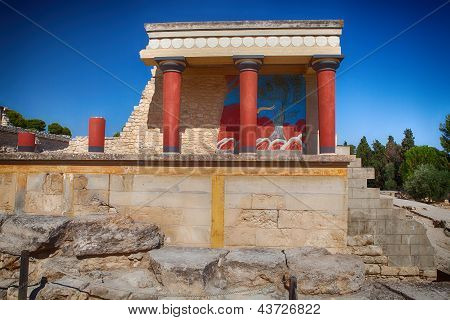 Knossos Palace At Crete, Greece.
