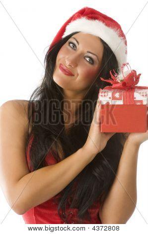Brunette In Christmas