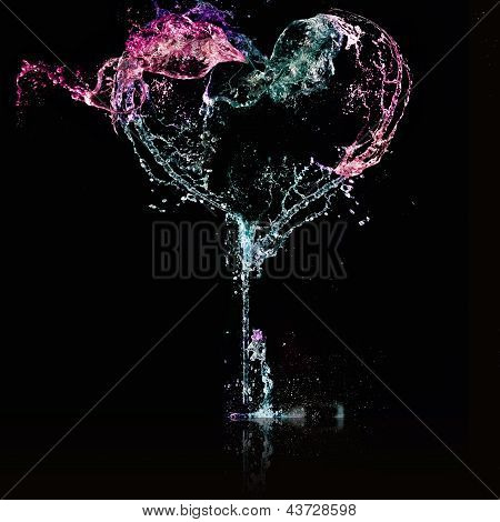 Heart From Water Splash