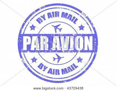 Par Avion-stamp