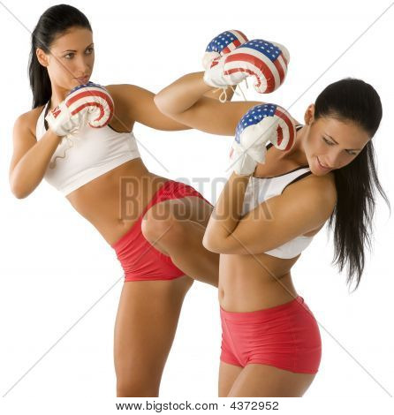 Losing Boxing Woman