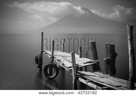 Old Pier On Lake