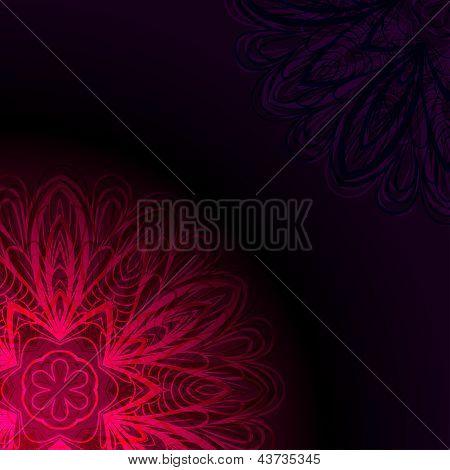 Purple Invitation Card