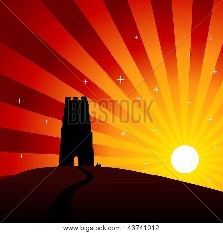 Glastonbury Sunset