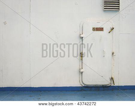 Old Ship Hatch Door Background