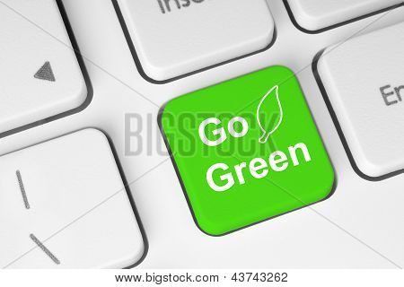 Go green button on keyboard