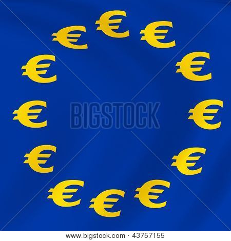 Flag Of Euro-currency
