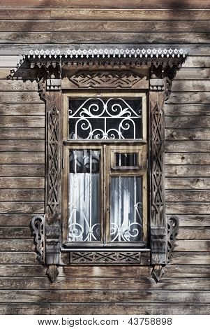 Carved Wooden Window