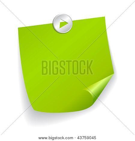 Green vector sticker illustration