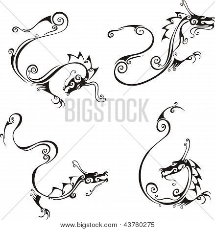 Stylistic Exquisite Dragon Tattoos