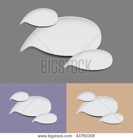 oval speech bubbles
