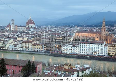 Duomo Cathedral And Santa Cruce Church, Florence