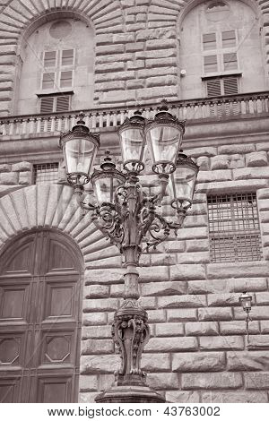 Lamppost Outside Palazzo Pitti, Florence