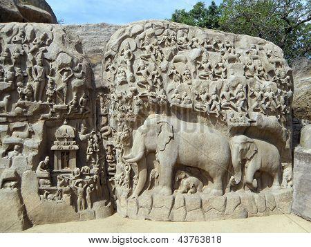 Arjuns's Pennance (Mamallapuram, India)