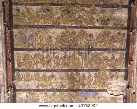 Painted Ceiling, Amman Shrine (Thanjavur)