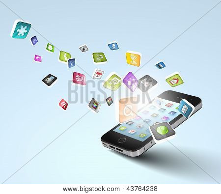moderne Technik-Medien
