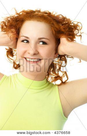 Cheerful Ginger Girl