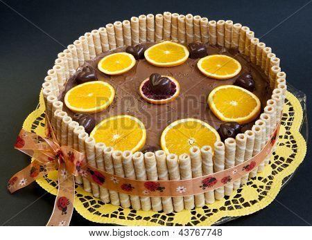 Organic choco orange cake