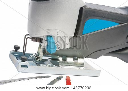 Electric Fretsaw With Spare Parts,closeup Shot