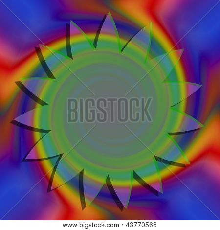 Colorful Abstract Background With Circle For Text