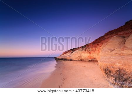 Port Noarlunga Cliffs At Twilight