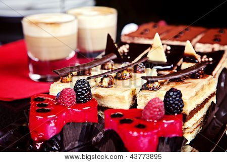 Group Of Different Mini Cakes