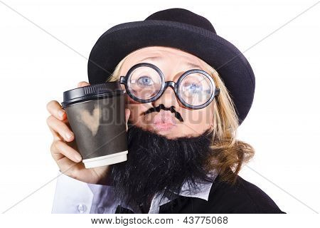 Person With Cup Of Coffee