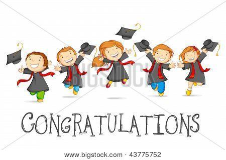 Graduados felizes