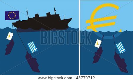 sinking eurozone - cypriot and greek crisis