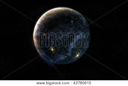 Habitated planet