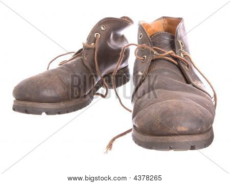 Pair Of Old Worn Boots