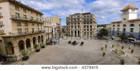 Old Havana Plaza Panorama