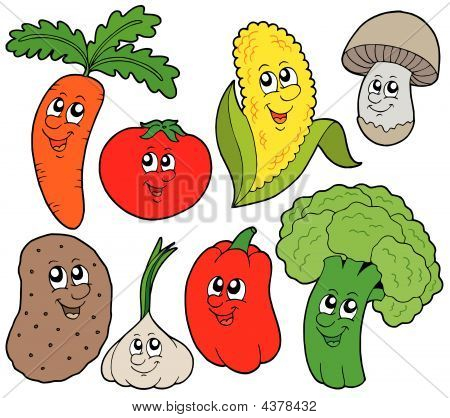 Cartoon Vegetable Collection 1