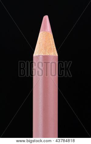 Lip Liner Pencil On Black Background