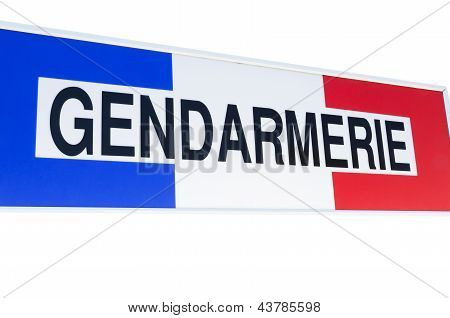 Gendarmerie sign french police