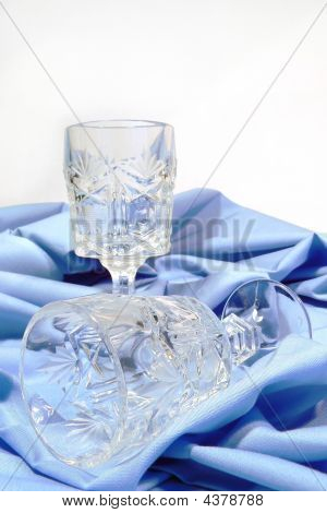 Antique Crystal Liqueur Glasses