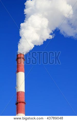 Smoking Pipes Of Thermal Power Station