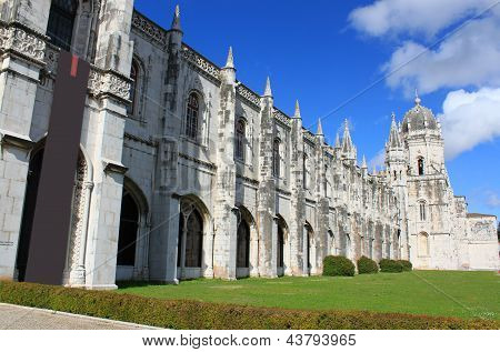 Jeronimos Monastery In Belem, Portugal