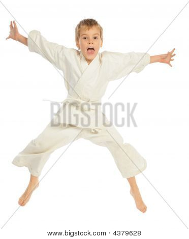 Karate Boy Jumping