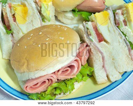 Hamburger With Sandwich