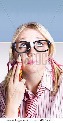 Smart Primary School Student Looking To Copyspace