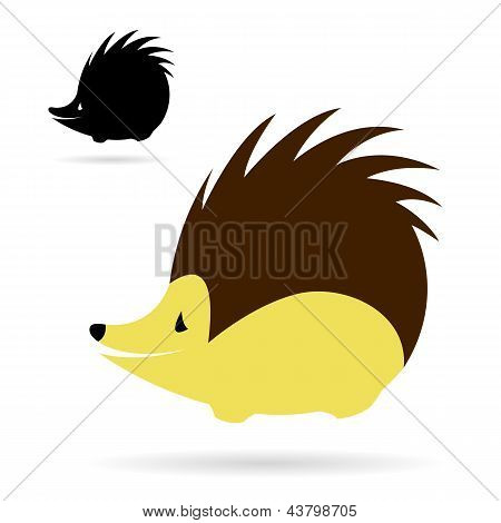 Vector image of an porcupine