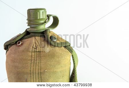 Vintage Army Water Canteen