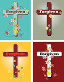 picture of forgiven  - A set of crosses with inspirational message - JPG