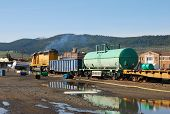stock photo of tank truck  - Simulated Train and Tank Truck accident with a WMD component  - JPG