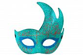 Blue Half Moon Shape Fantasy Mask