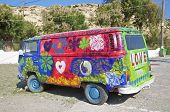 VW Bus de Hippie en Matala