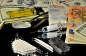 picture of meth  - Illegal drugs on the streets of money - JPG