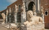 picture of arsenal  - The Porta Magna at the Venetian Arsenal Venice Italy - JPG
