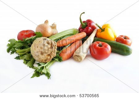 various multicolor vegetables